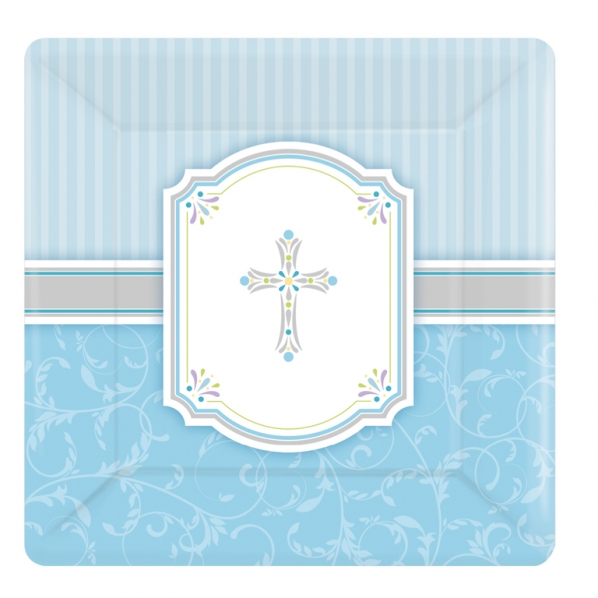 Communion Blessings Blue Small Paper Plates. 8 pack of 18cm blue paper plates. Perfect for small child or as a side plate.  sc 1 st  PartyBag.ie & Communion Blessing Blue Small Paper Plate - PartyBag.ie