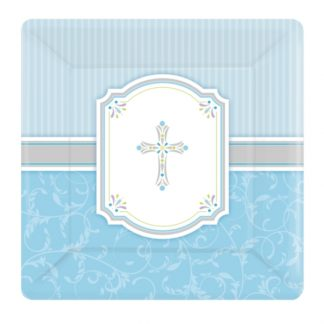 Large Paper Plate for Boys First Holy Communion