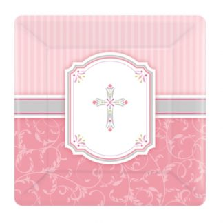 Girls First Holy Communion Small Paper Plates