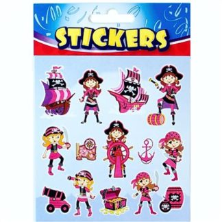 Pink Pirate Stickers