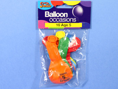 Age 5 Balloons PartyBagie