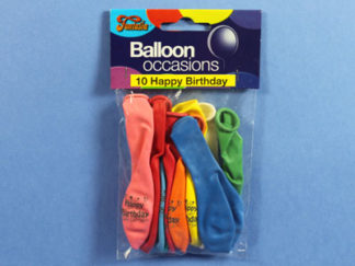 Happy birthday balloons for all ages