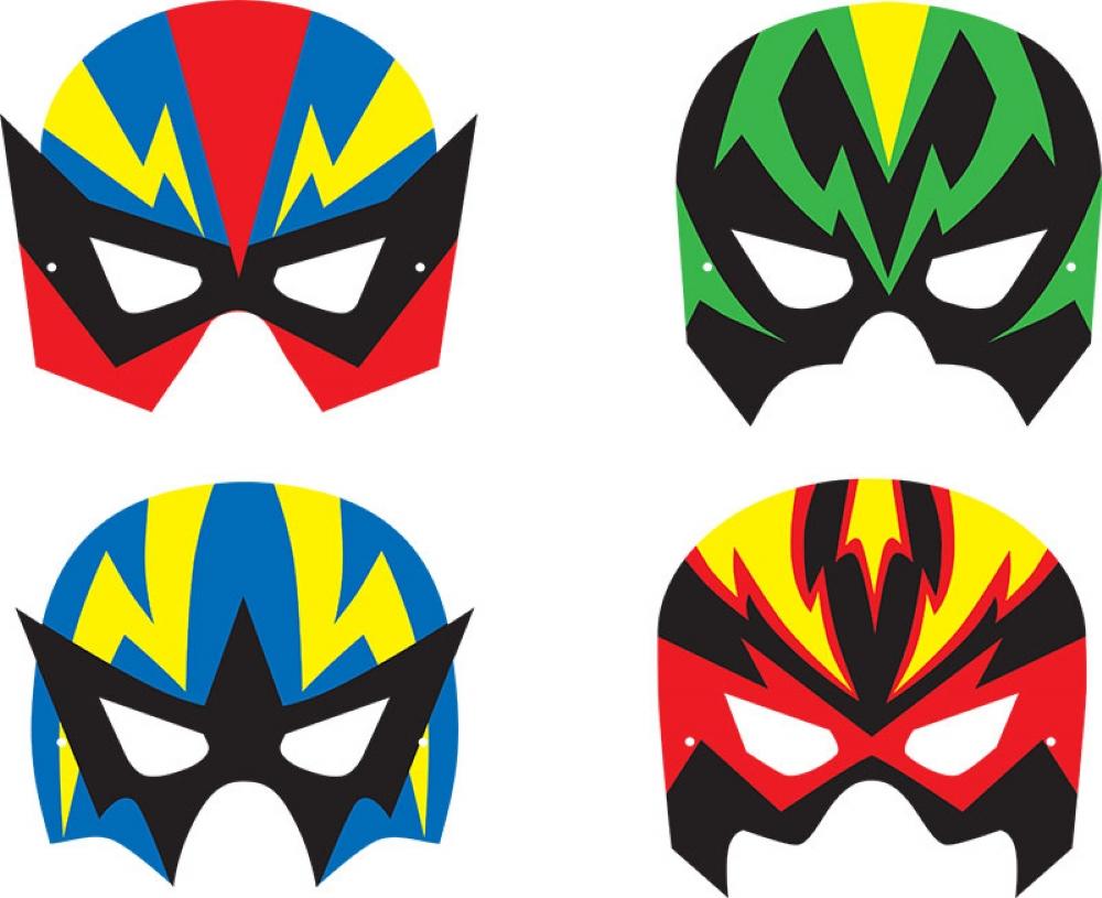 Super Hero Foam Masks