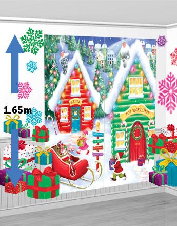 Santa's Workshop Scene Setter (1.65m) - PartyBag.ie