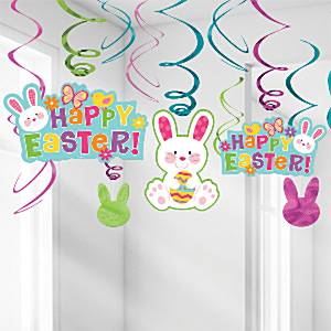 Easter Swirl Decorations 12 Pack