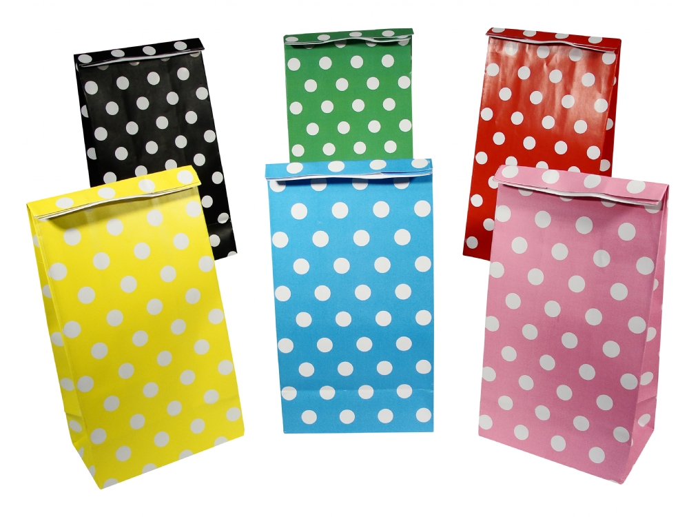Polka Dot Paper Party Bag Selection