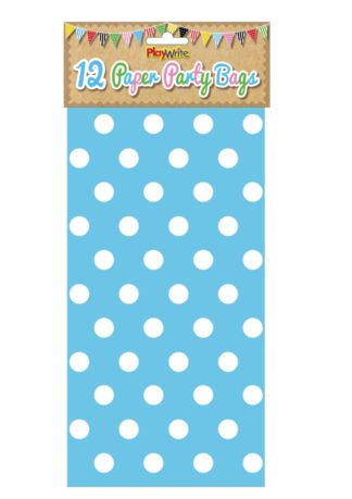 Blue Polka Dot Paper Party Bag