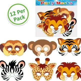 Farm Animal Masks (12pc) – PartyBag ie
